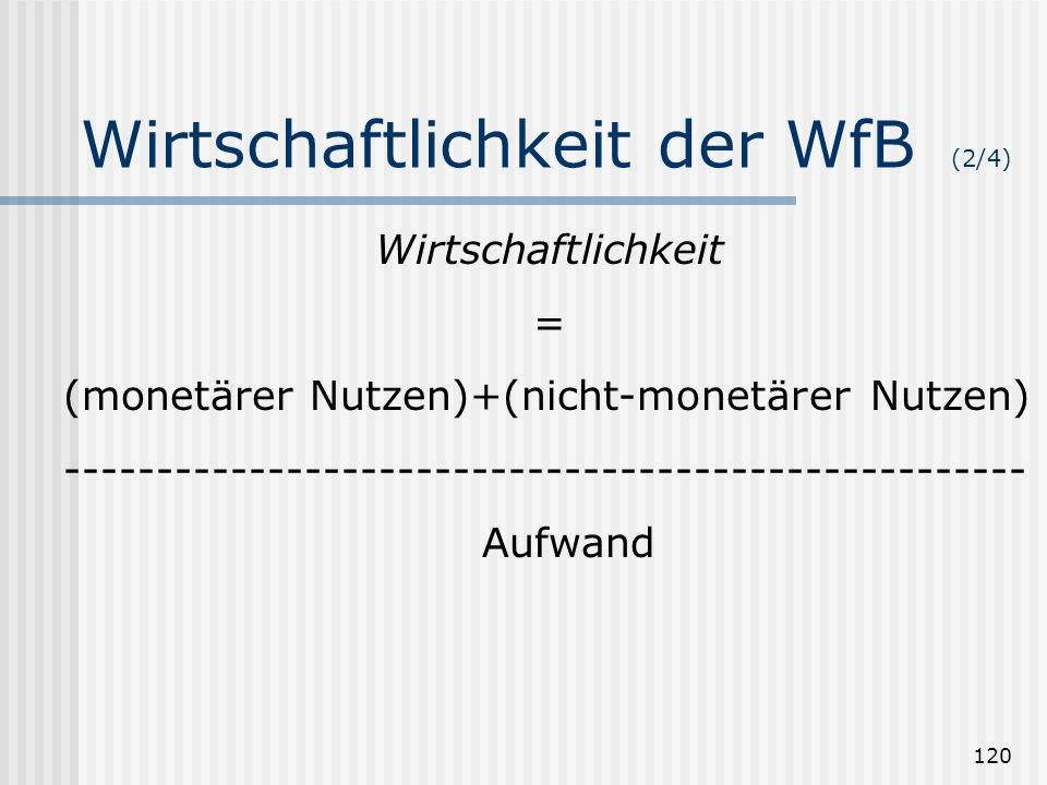 Wirtschaftlichkeit der WfB (2/4)