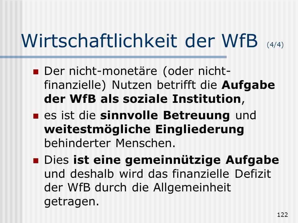 Wirtschaftlichkeit der WfB (4/4)