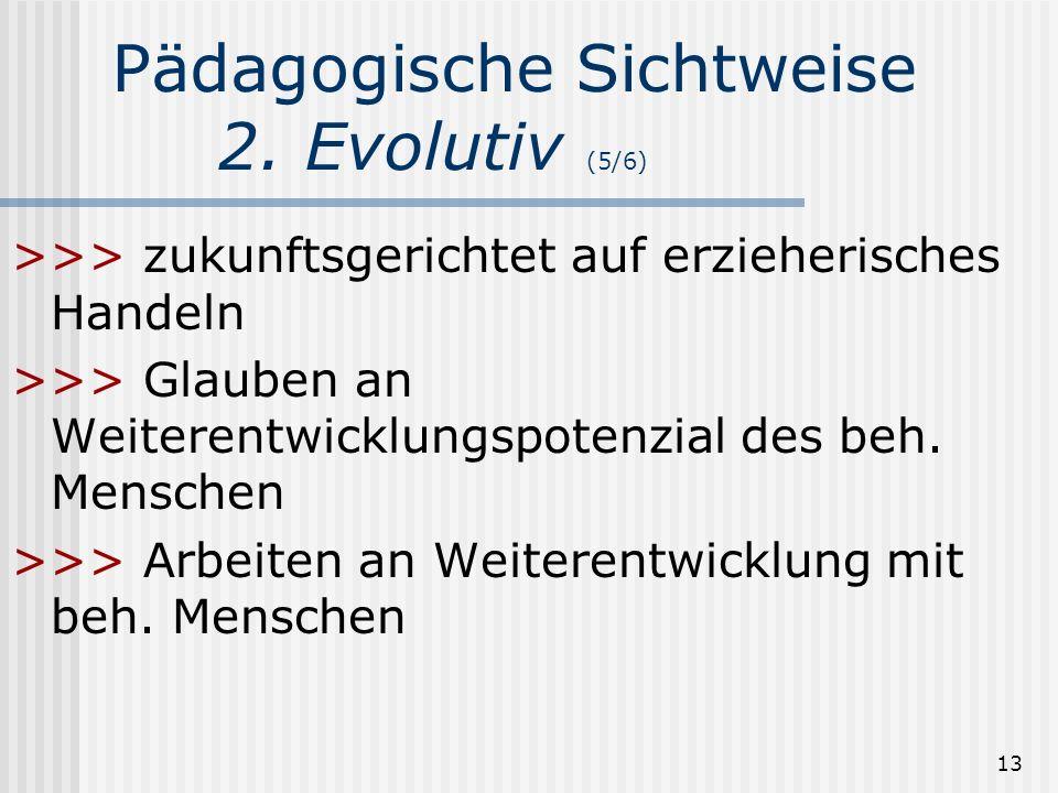 Pädagogische Sichtweise 2. Evolutiv (5/6)