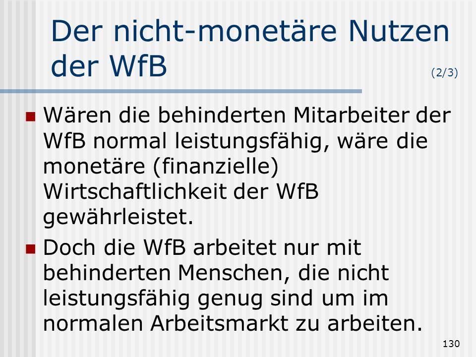 Der nicht-monetäre Nutzen der WfB (2/3)