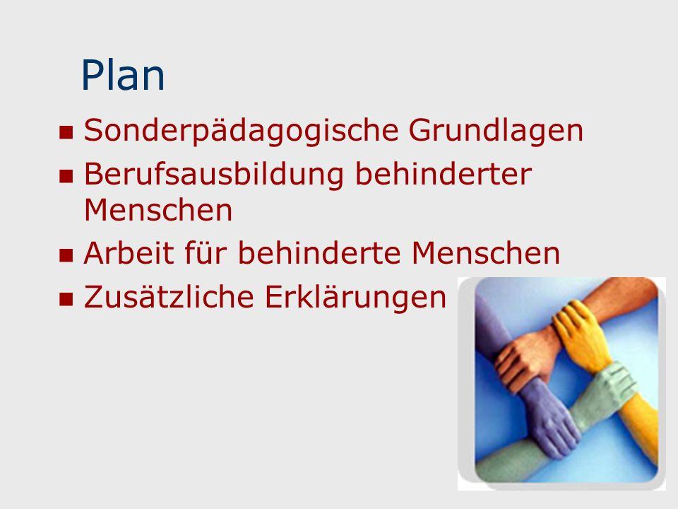 Plan Sonderpädagogische Grundlagen