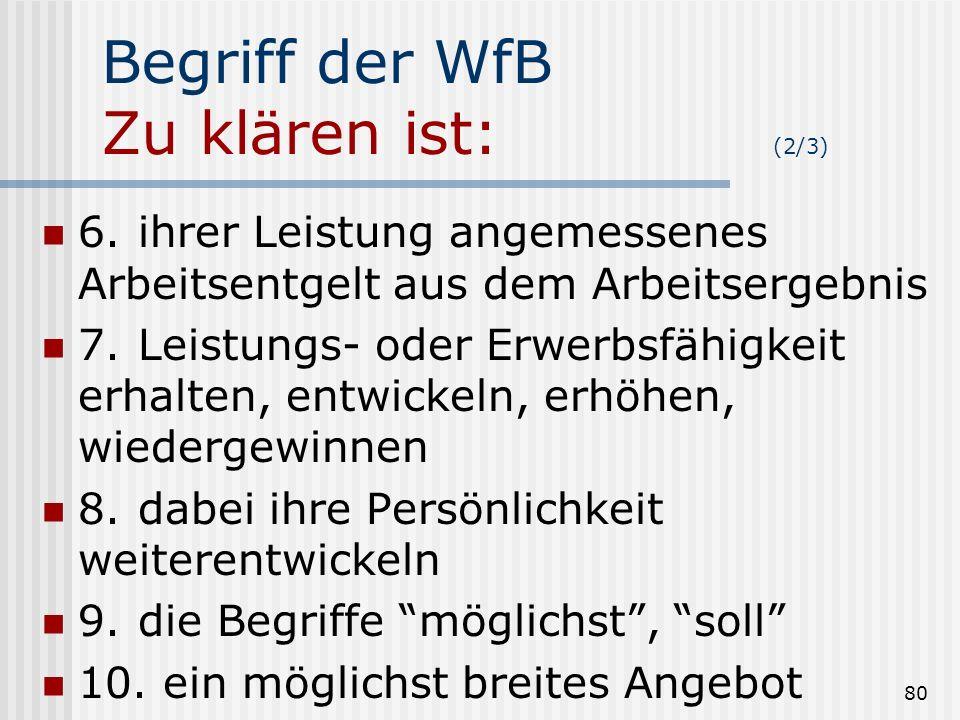 Begriff der WfB Zu klären ist: (2/3)