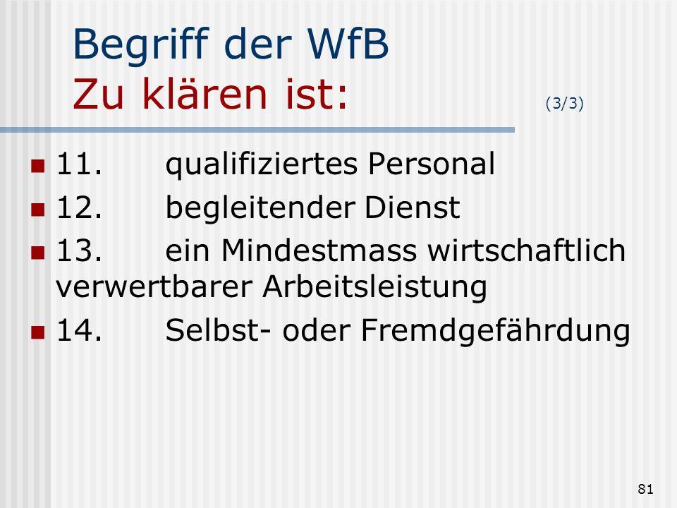 Begriff der WfB Zu klären ist: (3/3)