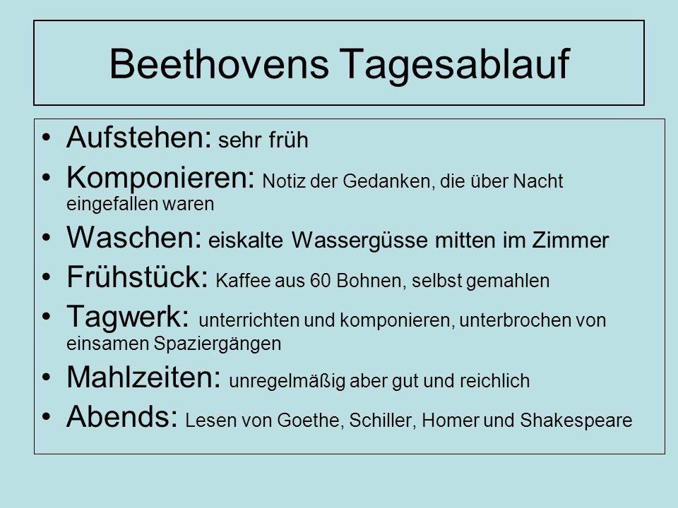 Beethovens Tagesablauf