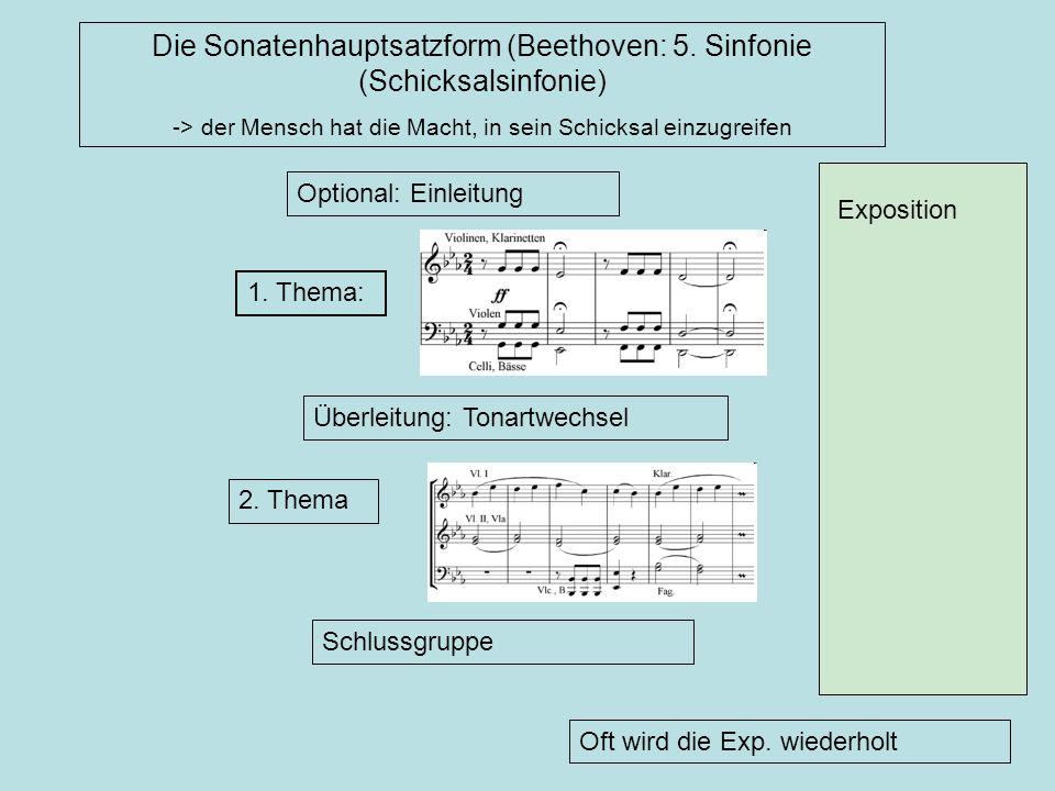 Die Sonatenhauptsatzform (Beethoven: 5. Sinfonie (Schicksalsinfonie)