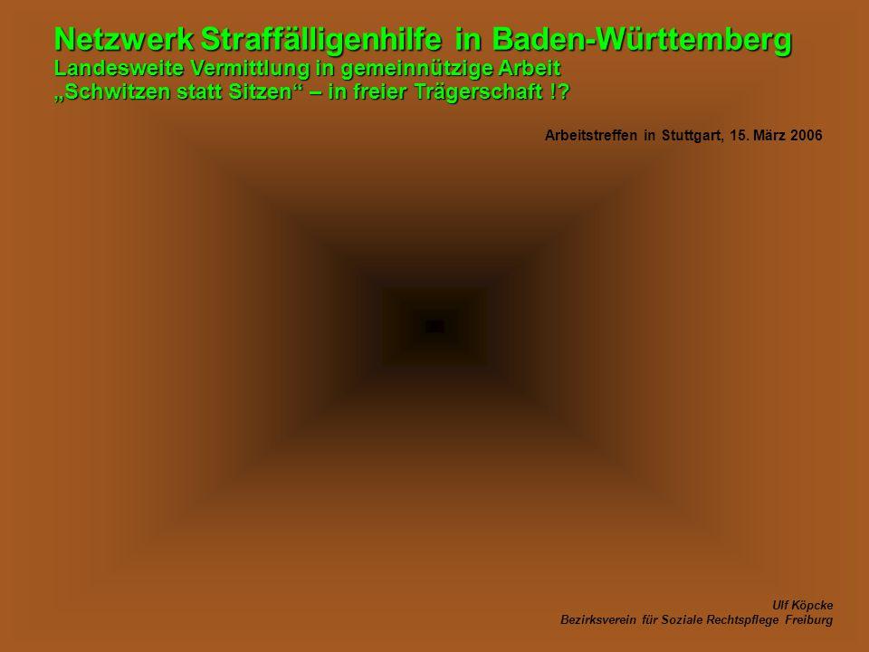 Netzwerk Straffälligenhilfe in Baden-Württemberg