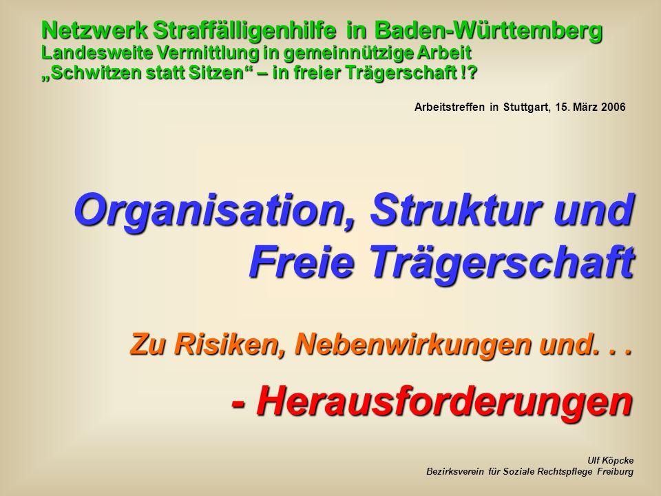 Organisation, Struktur und Freie Trägerschaft