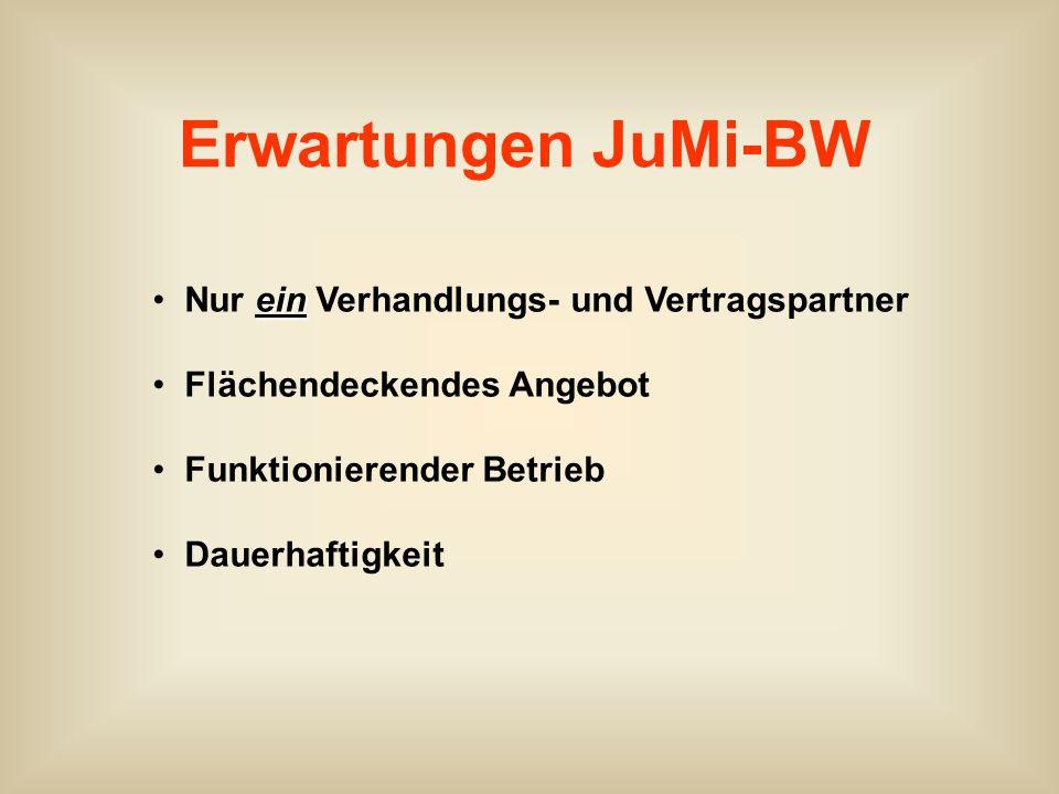 Erwartungen JuMi-BW Nur ein Verhandlungs- und Vertragspartner