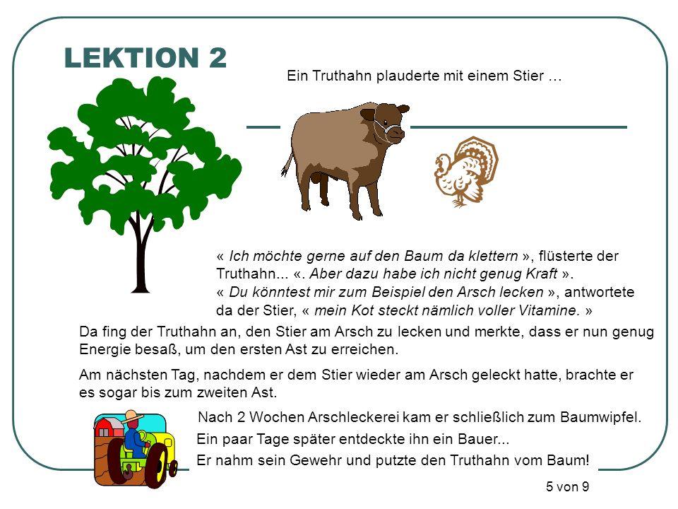 LEKTION 2 Ein Truthahn plauderte mit einem Stier …