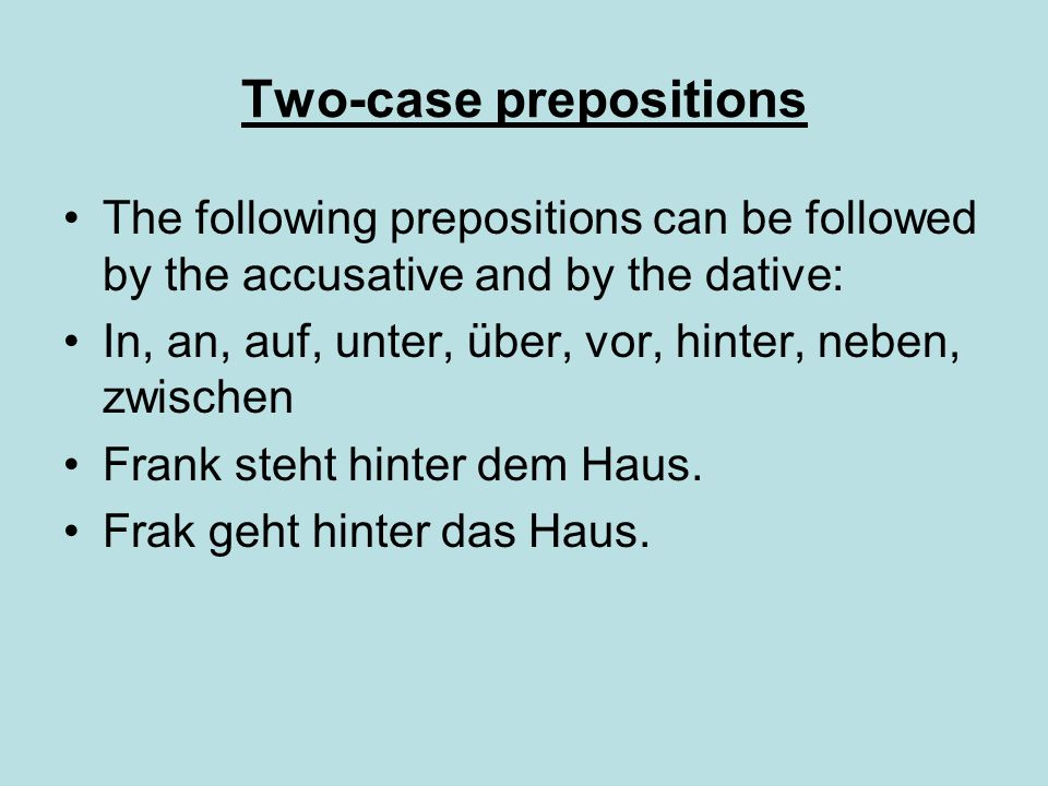 Two-case prepositions