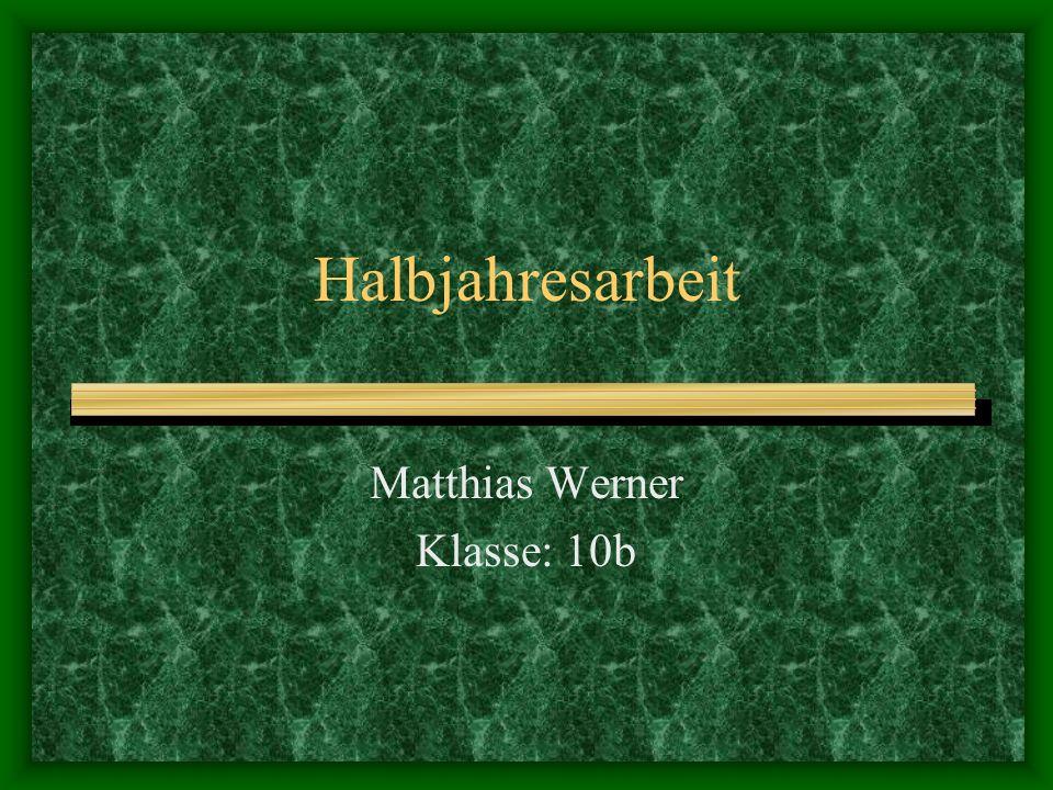 Matthias Werner Klasse: 10b