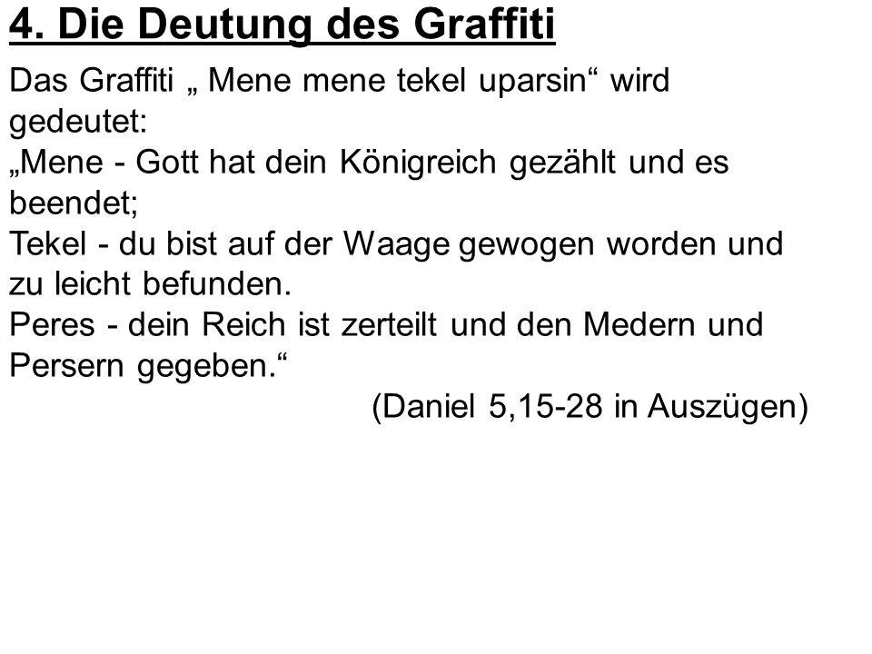 4. Die Deutung des Graffiti
