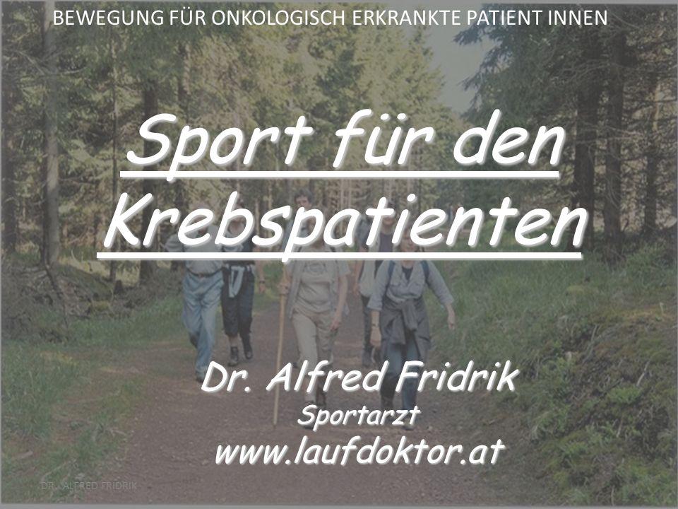 Sport für den Krebspatienten