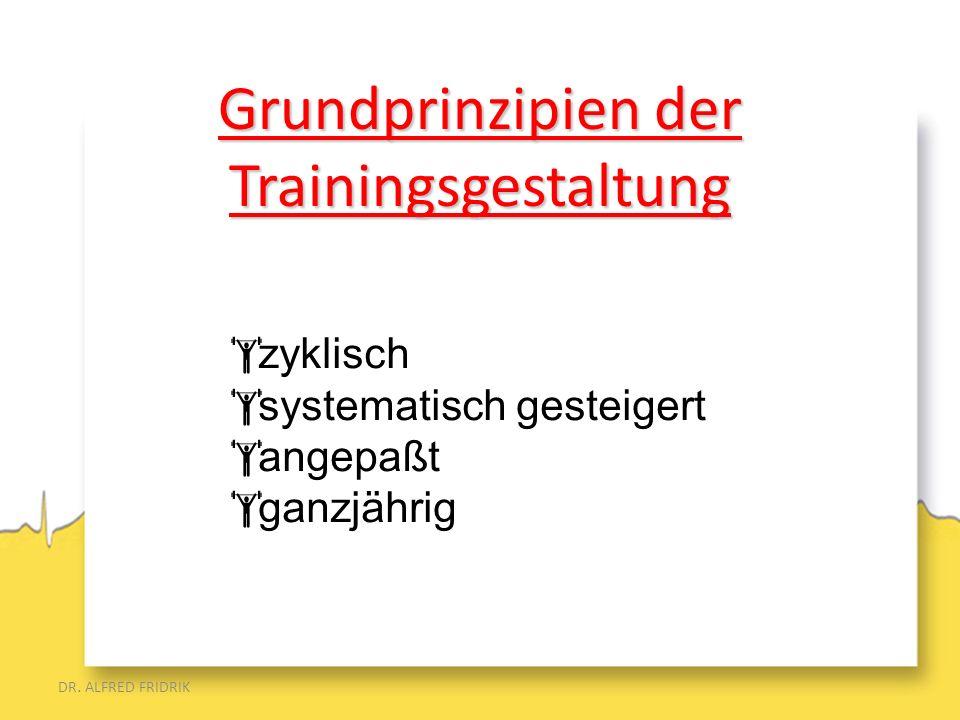 Grundprinzipien der Trainingsgestaltung