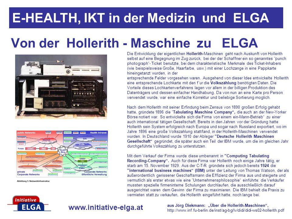 Von der Hollerith - Maschine zu ELGA