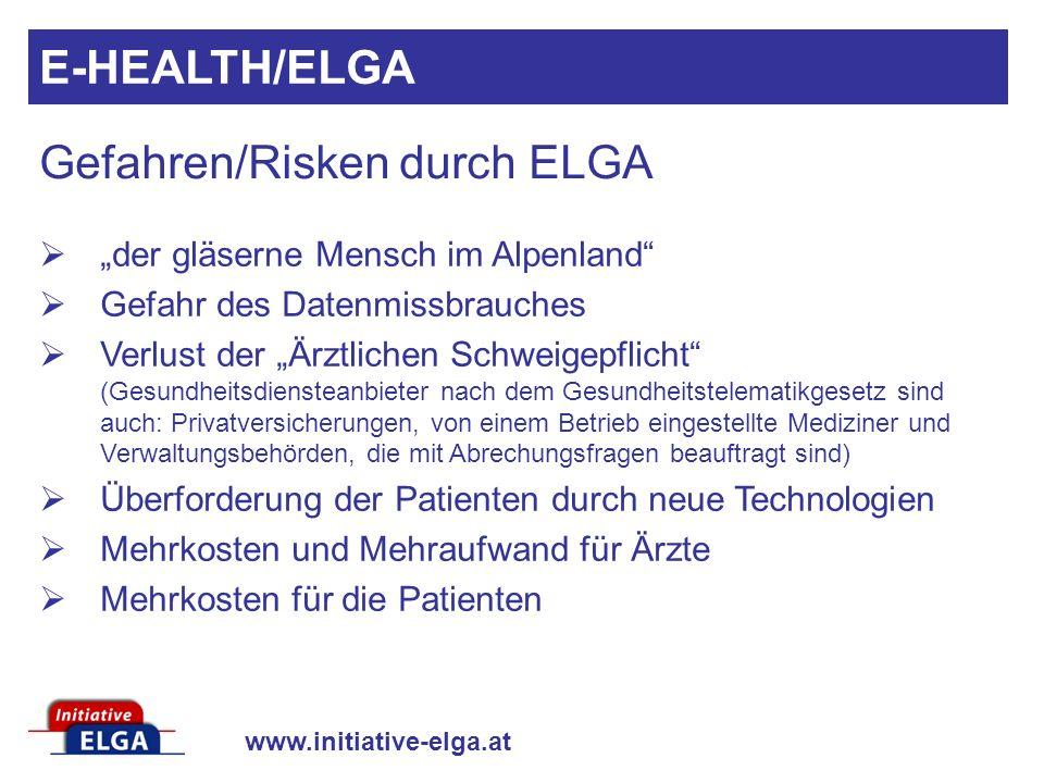 Gefahren/Risken durch ELGA