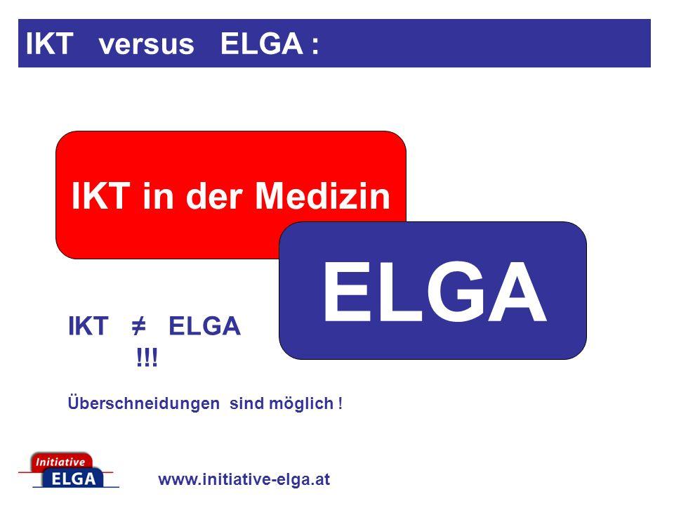 ELGA IKT in der Medizin IKT versus ELGA :