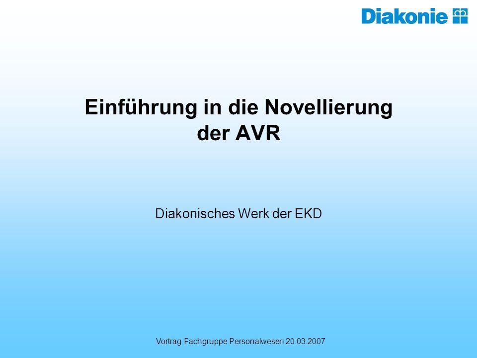 Einführung in die Novellierung der AVR