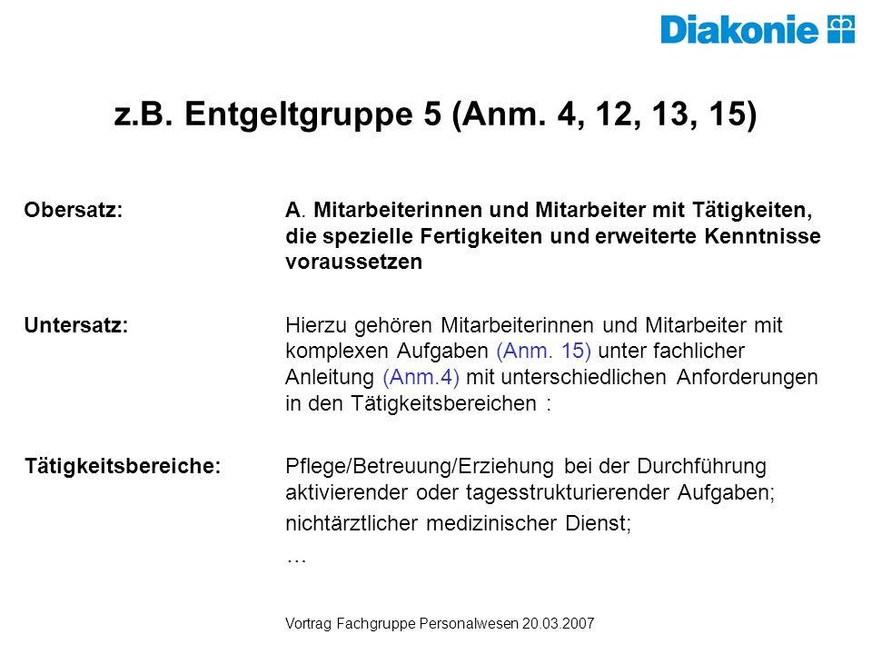 z.B. Entgeltgruppe 5 (Anm. 4, 12, 13, 15)