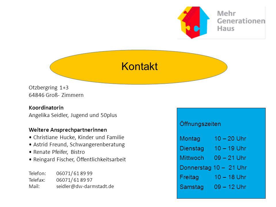 Kontakt Otzbergring 1+3 64846 Groß- Zimmern Koordinatorin