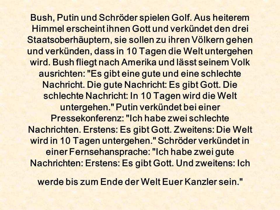 Bush, Putin und Schröder spielen Golf