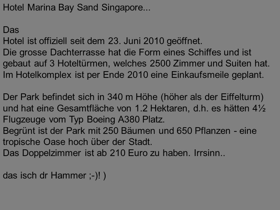 Hotel Marina Bay Sand Singapore...