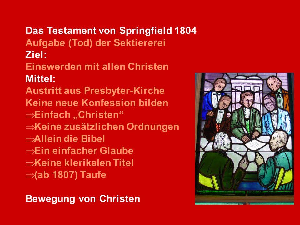 Das Testament von Springfield 1804
