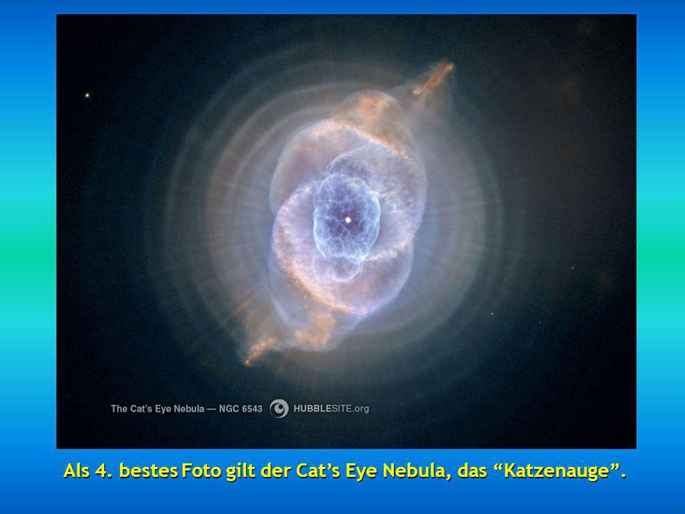 Als 4. bestes Foto gilt der Cat's Eye Nebula, das Katzenauge .