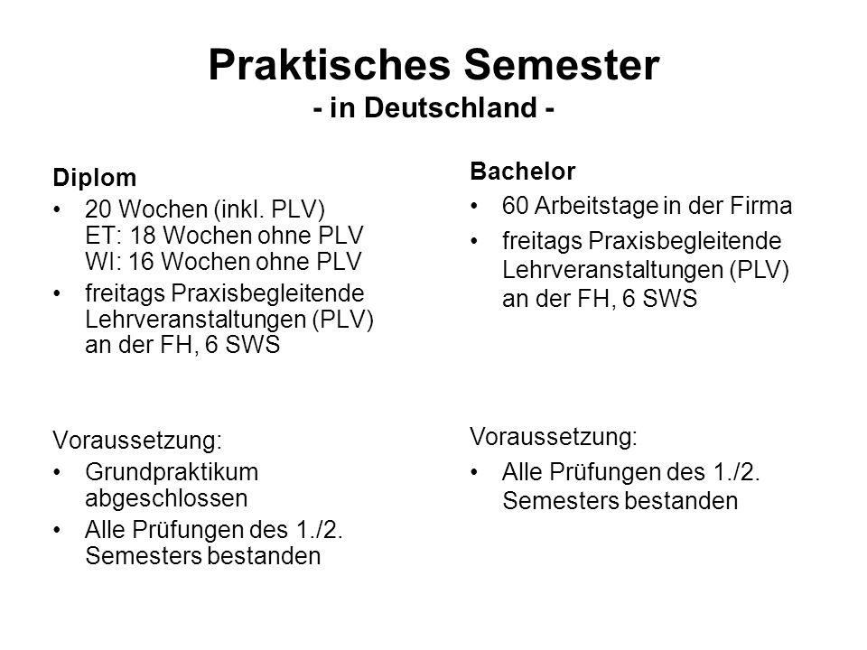 Praktisches Semester - in Deutschland -
