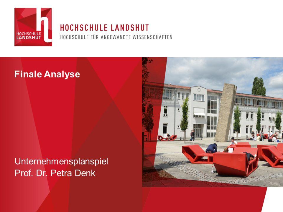Finale Analyse Unternehmensplanspiel Prof. Dr. Petra Denk