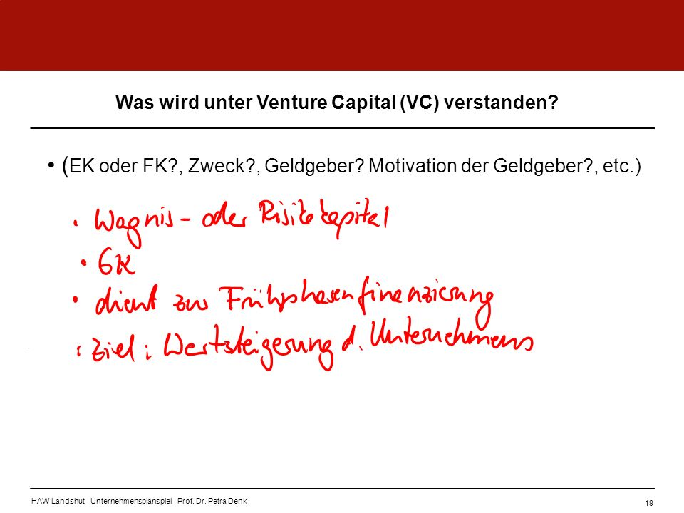 Was wird unter Venture Capital (VC) verstanden