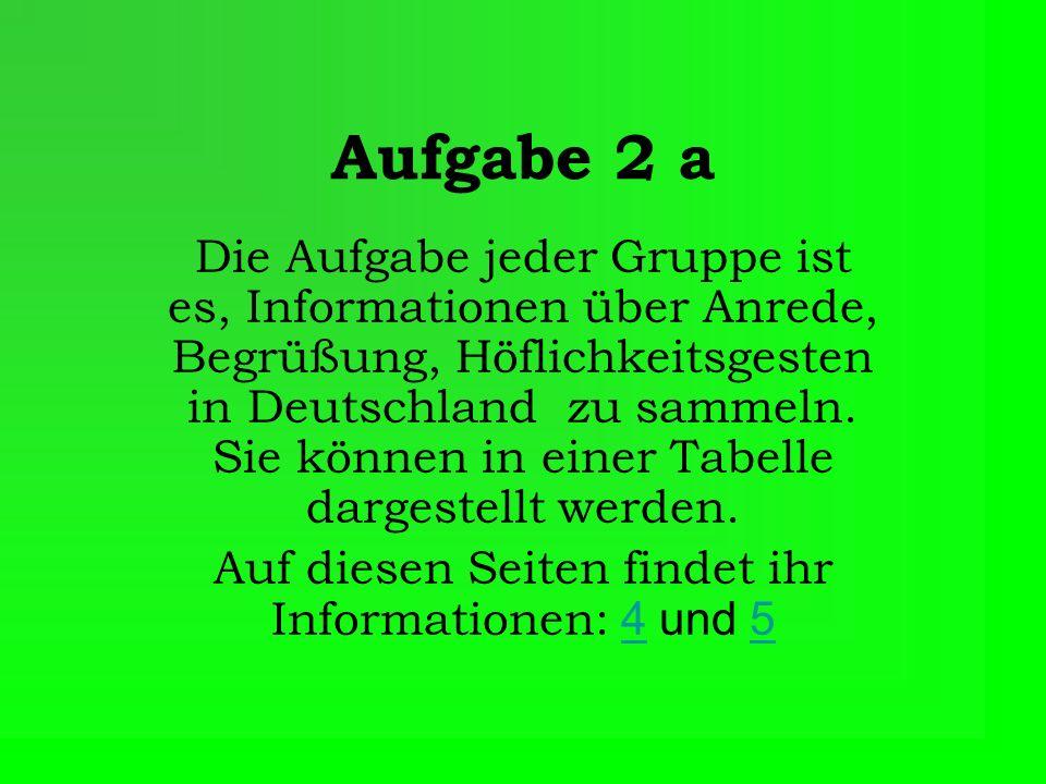 Auf diesen Seiten findet ihr Informationen: 4 und 5