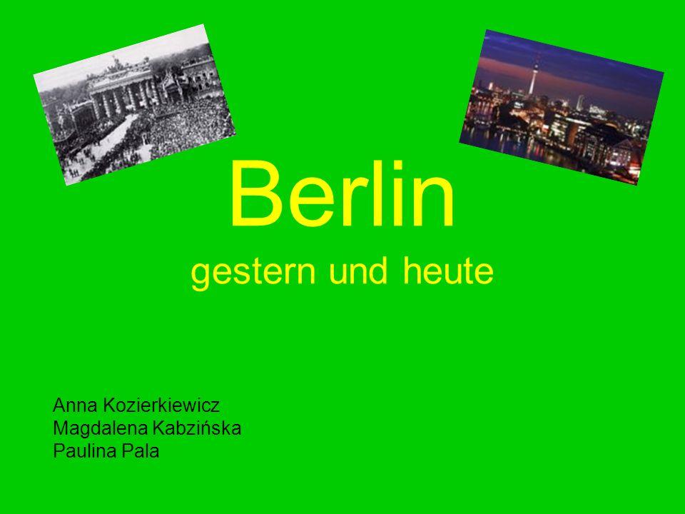 Berlin gestern und heute