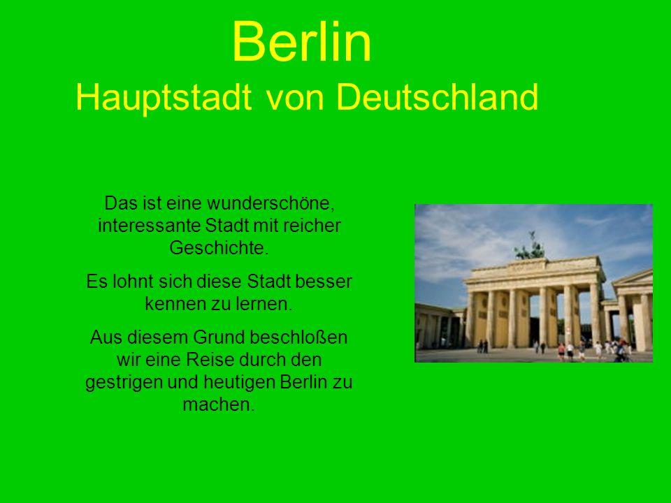 Berlin Hauptstadt von Deutschland