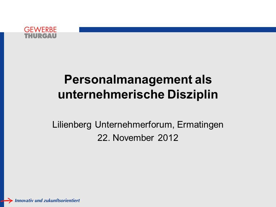 Personalmanagement als unternehmerische Disziplin