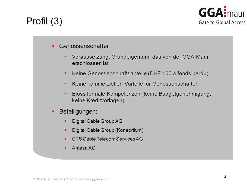 Profil (3) Genossenschafter Beteiligungen: