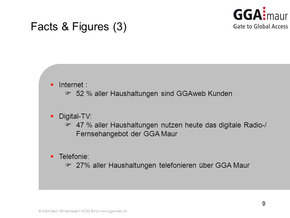 Facts & Figures (3) Internet :