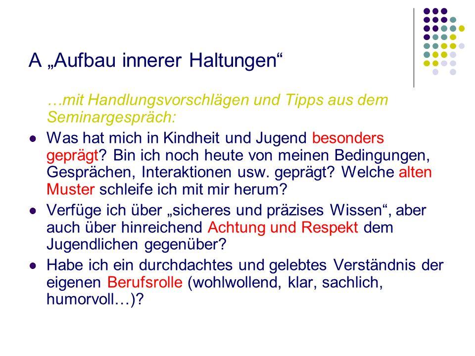 """A """"Aufbau innerer Haltungen"""