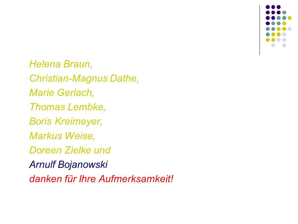 Helena Braun, Christian-Magnus Dathe, Marie Gerlach, Thomas Lembke, Boris Kreimeyer, Markus Weise,