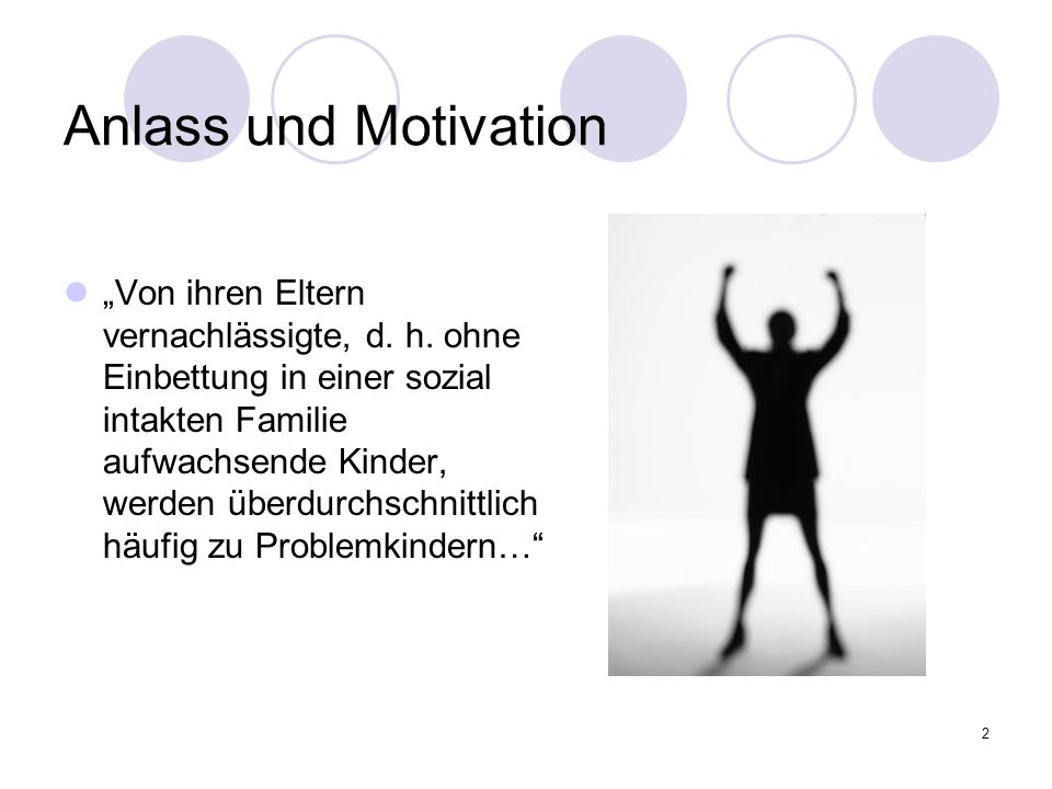 Anlass und Motivation