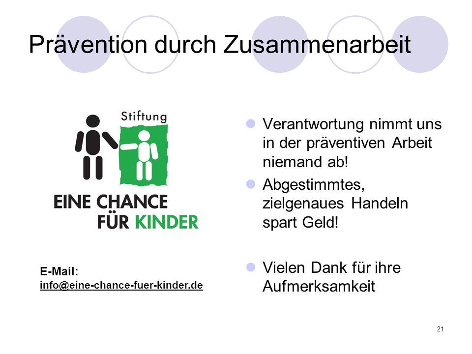Prävention durch Zusammenarbeit