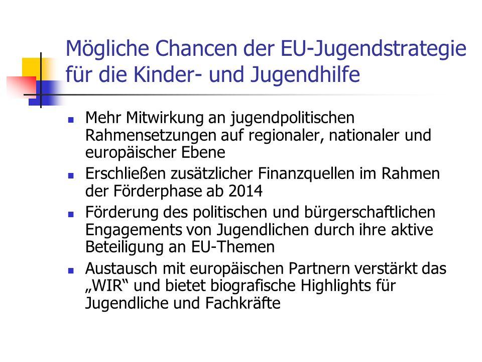 Mögliche Chancen der EU-Jugendstrategie für die Kinder- und Jugendhilfe