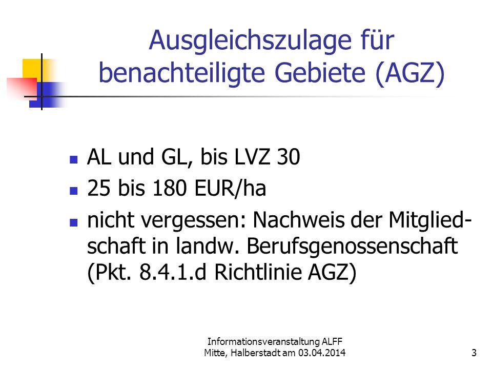 Ausgleichszulage für benachteiligte Gebiete (AGZ)