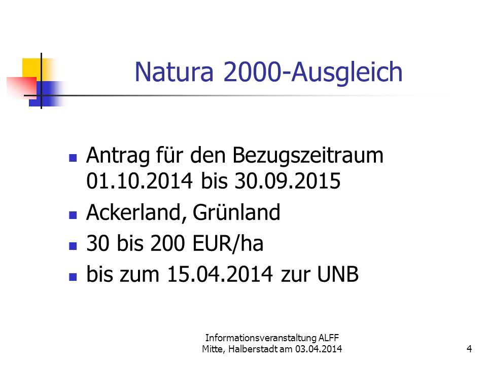 Informationsveranstaltung ALFF Mitte, Halberstadt am 03.04.2014