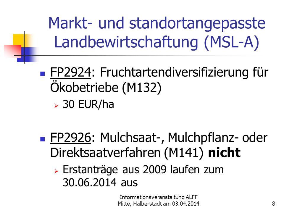 Markt- und standortangepasste Landbewirtschaftung (MSL-A)