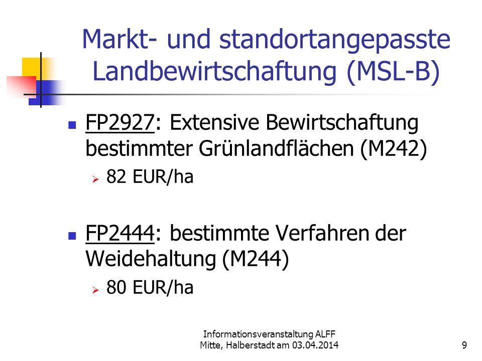 Markt- und standortangepasste Landbewirtschaftung (MSL-B)