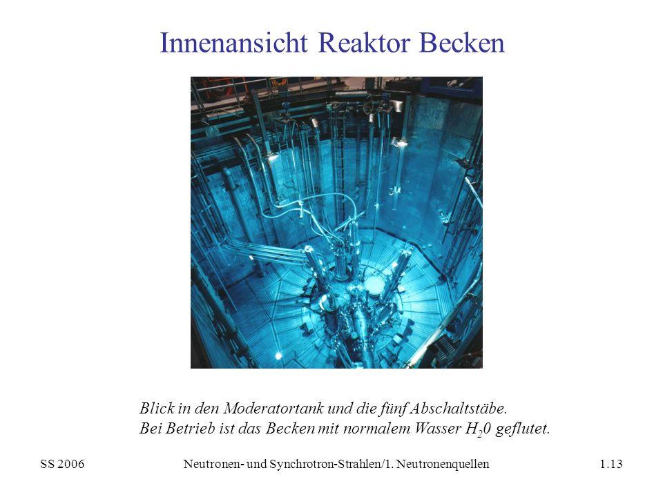 Innenansicht Reaktor Becken
