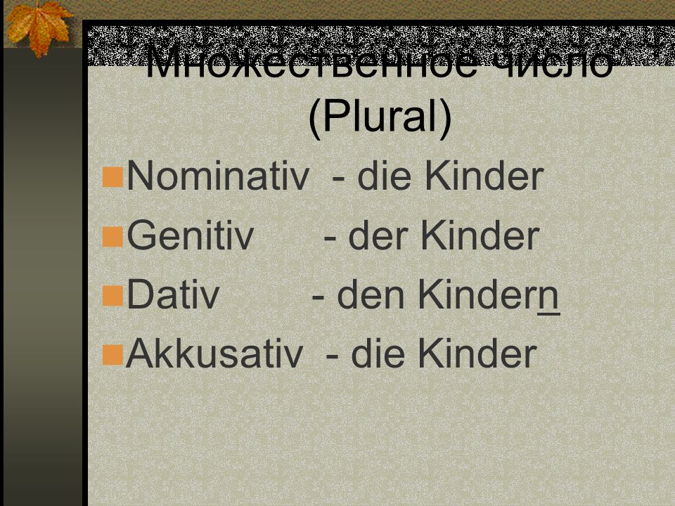 Множественное число (Plural)