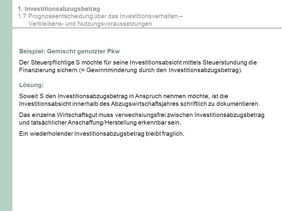 Investitionsabzugsbetrag 1