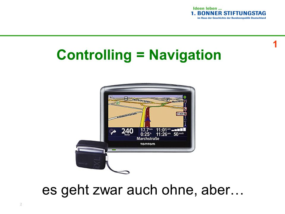 Controlling = Navigation